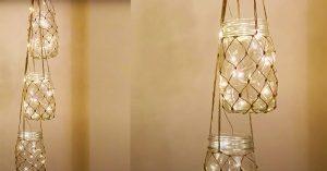 DIY Hanging Mason Jar Lantern