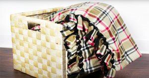 DIY No Sew Fleece Blanket