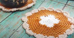 DIY Pumpkin Pie Coaster And Hot Pad
