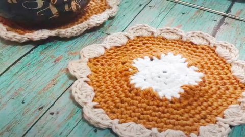 DIY Pumpkin Pie Coaster And Hot Pad | DIY Joy Projects and Crafts Ideas