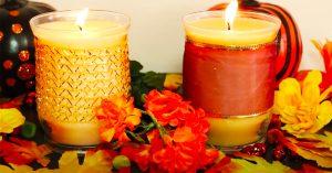 DIY Pumpkin Spice And Banana Bread Candles