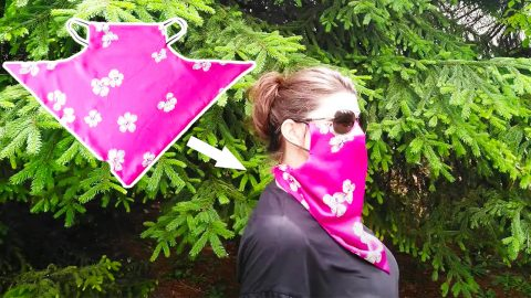 DIY Scarf Face Mask With Free Pattern | DIY Joy Projects and Crafts Ideas