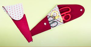 DIY Scissors Pouch Holder