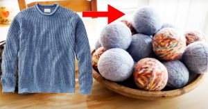 DIY Wool Dryer Balls From Upcycled Sweaters