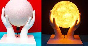 DIY Globe In-Hands Lamp