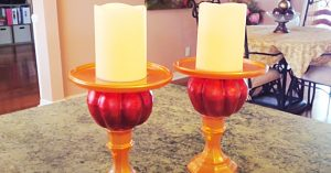 Dollar Tree DIY Pumpkin Candle Holders