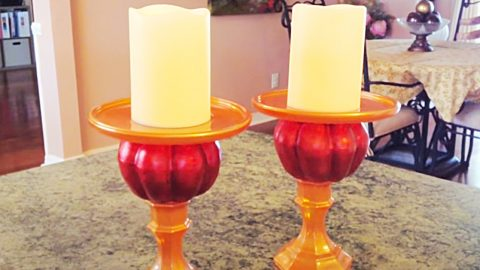 Dollar Tree DIY Pumpkin Candle Holders | DIY Joy Projects and Crafts Ideas