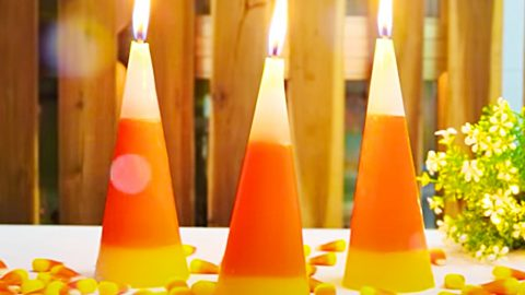 How To Make Candy Corn Candles | DIY Joy Projects and Crafts Ideas