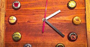 How To Make A Vintage Bottle Cap Clock