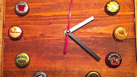 How To Make A Vintage Bottle Cap Clock | DIY Joy Projects and Crafts Ideas