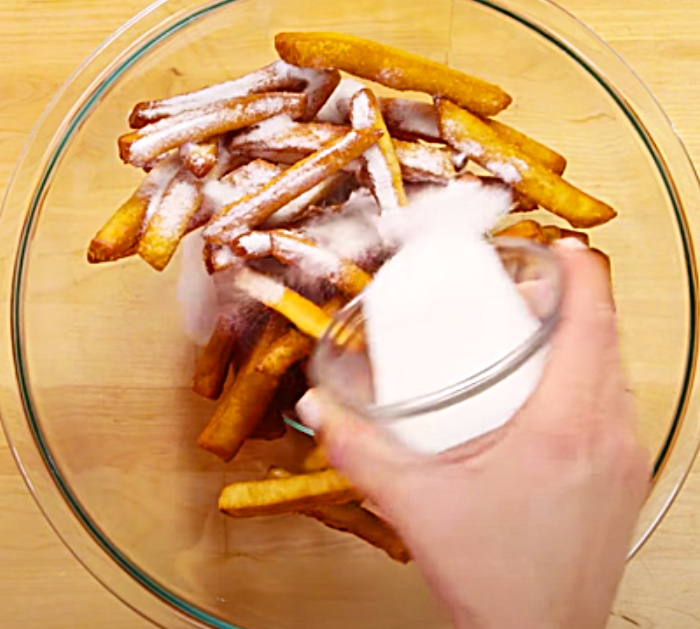 Copycat Dunkin Donut Fries - Sugar Donuts - Homemade Donut Recipe