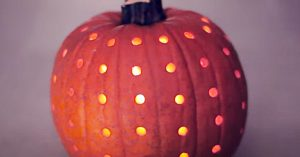 How To Make Power Drilled Pumpkin Lantern