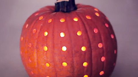 How To Make Power Drilled Pumpkin Lantern | DIY Joy Projects and Crafts Ideas