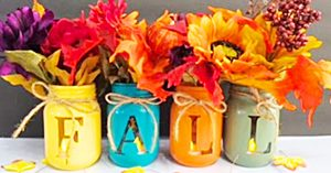 How To Make A Fall Centerpiece With Mason Jars
