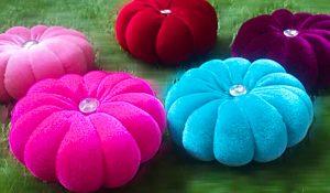 How To Make A Velvet Flower Cushion
