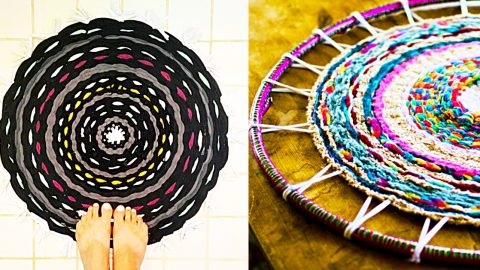 How To Make A Hula Hoop Rug | DIY Joy Projects and Crafts Ideas