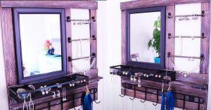 Dollar Tree DIY Wall-Mounted Wood Jewelry Organizer
