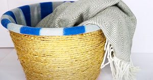 Dollar Tree DIY Rope Laundry Basket