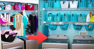 Dollar Tree Laundry/ Pantry Organizing Makeover