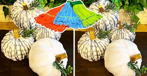 Dollar Tree DIY Mop Head Pumpkins