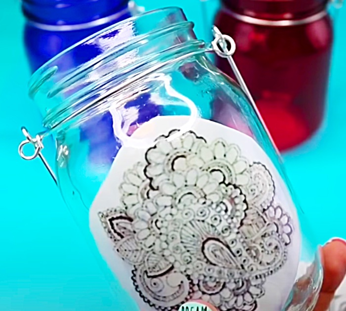 Henna Paper Painting Idea - Moroccan Craft Idea - DIY Candle Holder