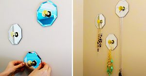 Dollar Tree DIY Mirrored Necklace Hangers