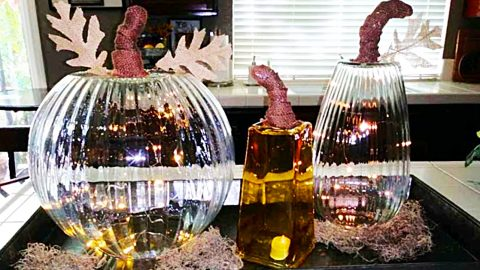 DIY Pottery Barn Glass Pumpkin Dupe   DIY Joy Projects and Crafts Ideas