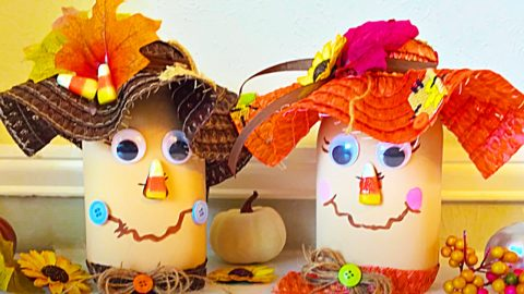 Dollar Tree Scarecrow Mason Jars | DIY Joy Projects and Crafts Ideas