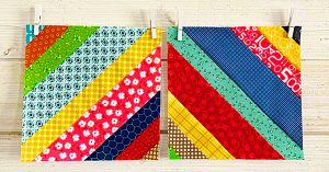 How To Make Easy Jelly Roll Strings Quilt Blocks