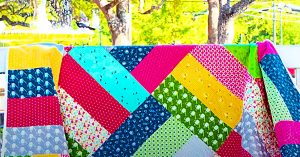 Half-Yard Shortcut Quilt With Free Pattern