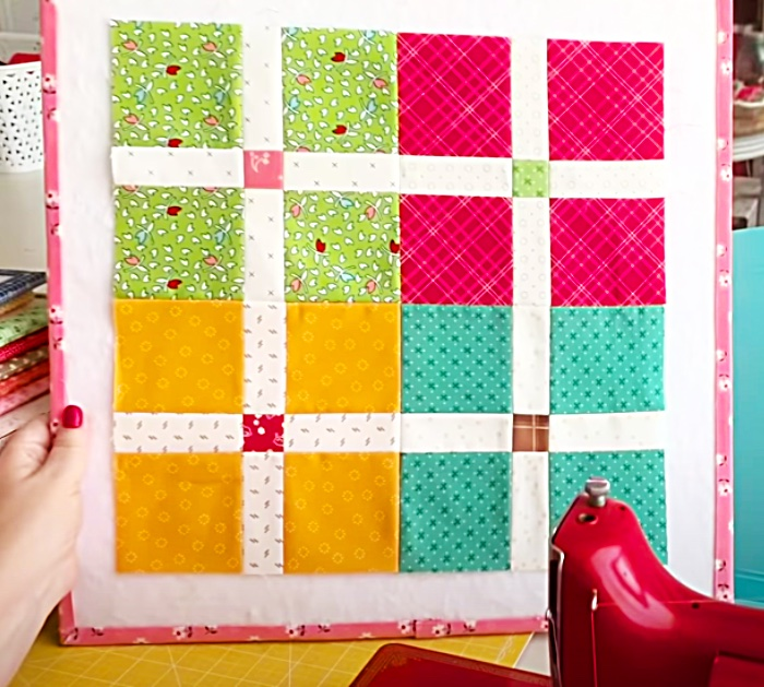 How To Make A Scrappy Quilt Block - Easy Pattern For Quilt - DIY Quilting Ideas