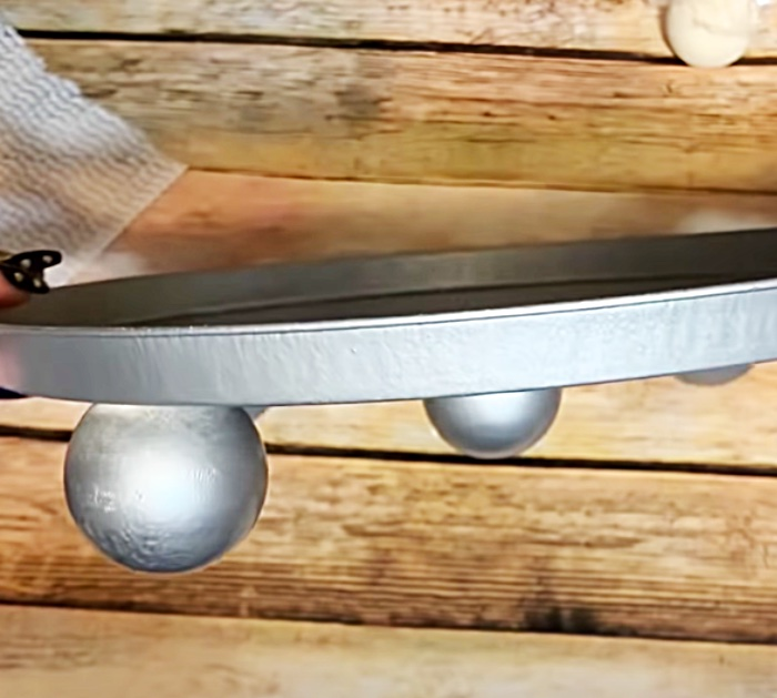 Dollar Tree Fall Entertaining Ideas - Dollar Tree Homemade Tea Tray - Easy Decor Ideas