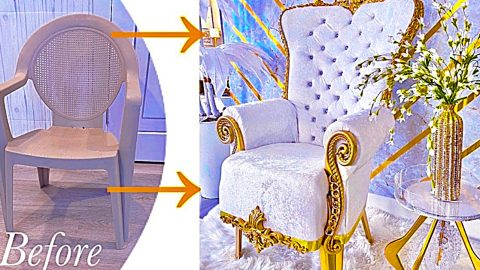 Turn A Plastic Chair Into A Throne Chair | DIY Joy Projects and Crafts Ideas