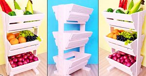How To Make A vegetable Rack From Cardboard