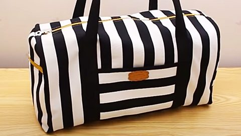 How To Sew A Weekender Bag With Free Pattern | DIY Joy Projects and Crafts Ideas