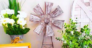 Dollar Tree DIY Farmhouse Windmill