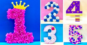 DIY 3D Floral Numbers For A Party