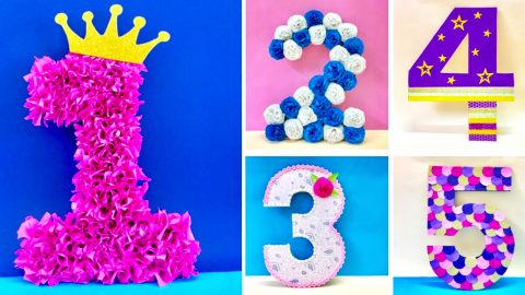 DIY 3D Floral Numbers For A Party | DIY Joy Projects and Crafts Ideas