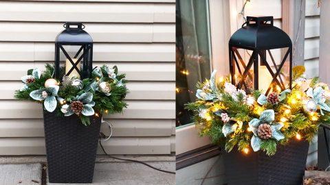 DIY Lantern Planter Floral Arrangement | DIY Joy Projects and Crafts Ideas