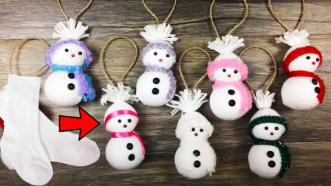 How To Make A Sock Snowman Ornament | DIY Joy Projects and Crafts Ideas
