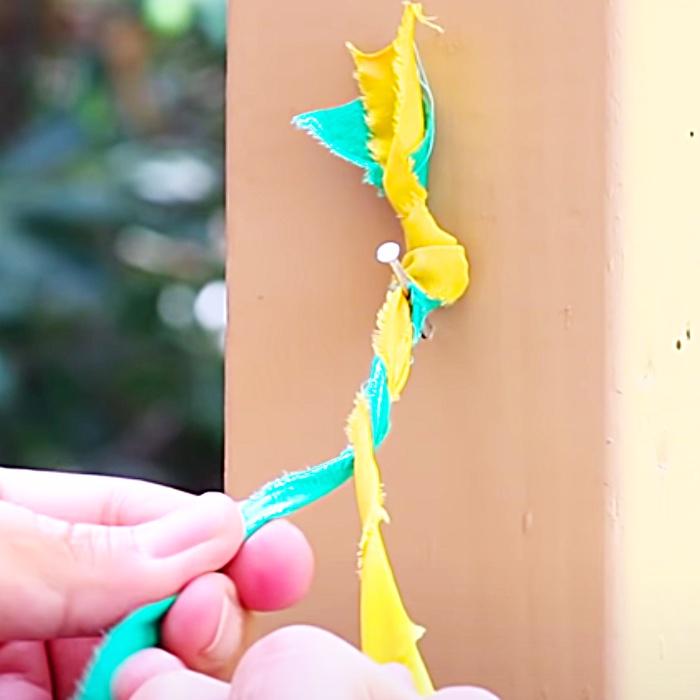 Fabric Lamp Makeover - How To Make A Boho Lamp - Home Decor Ideas