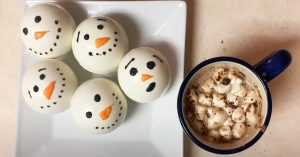 Snowman Hot Chocolate Bomb Recipe
