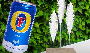 Turn Beer Cans Into A Feather Sculpture