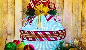 Dollar Tree Colander Christmas Ornament