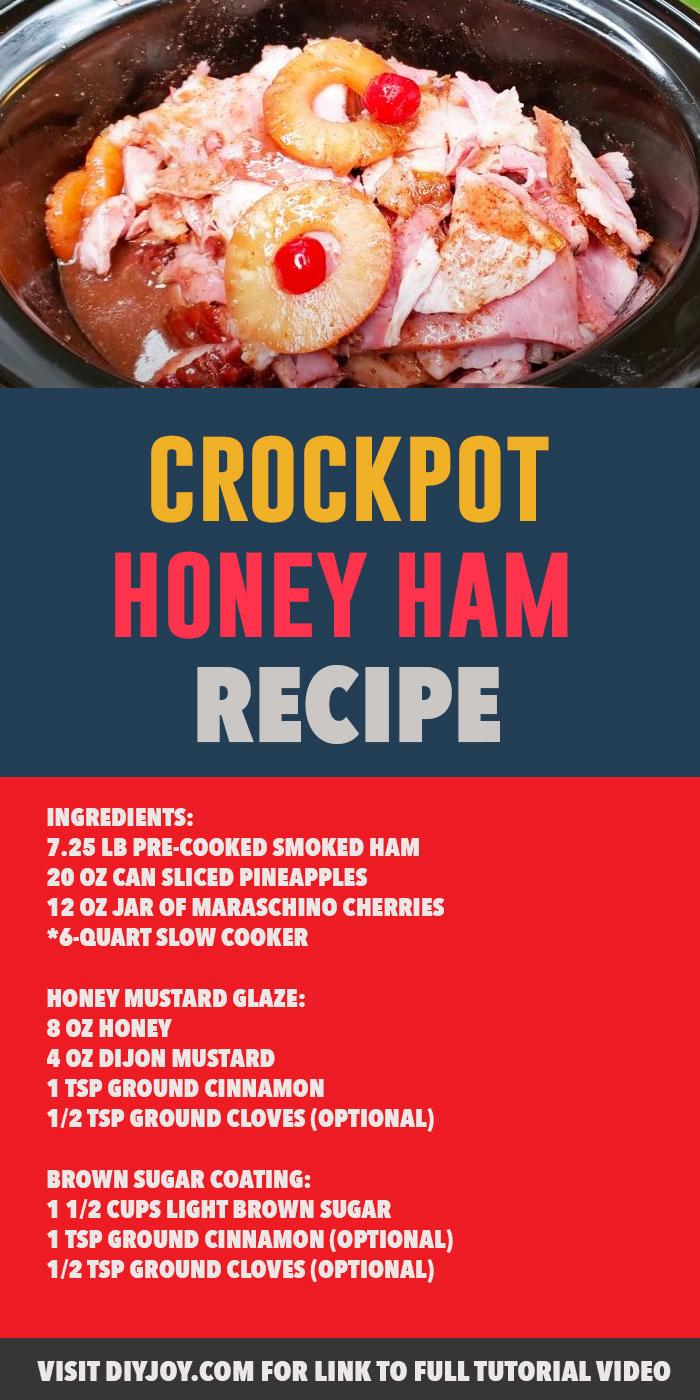 Easy Crockpot Ham Recipe - Quick Thanksgiving Dinner Ideas