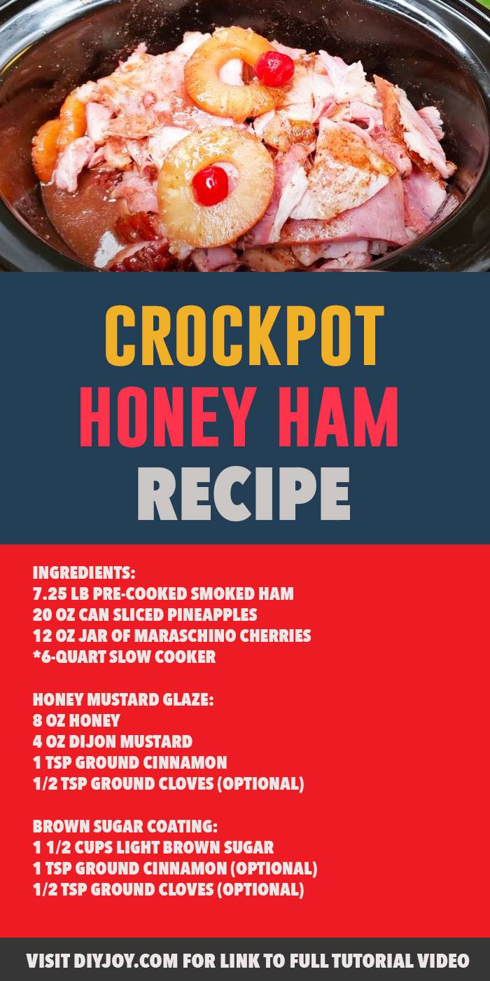Crockpot Honey Glazed Ham Recipe