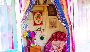 DIY No-Sew Shabby Chic Rag Curtains