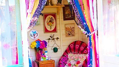 DIY No-Sew Shabby Chic Rag Curtains   DIY Joy Projects and Crafts Ideas