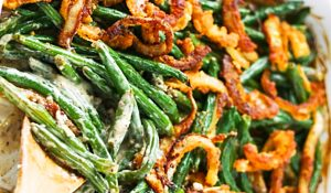 Green Bean And Caramelized Onion Casserole