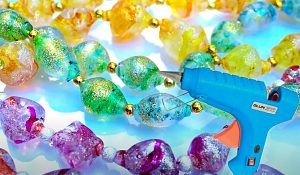 How To Make Shimmery Hot Glue Beads